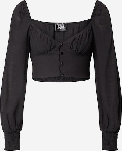 Parallel Lines Bluse in schwarz, Produktansicht