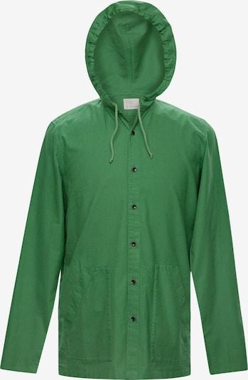 TERRA LUNA Shacket PHOBOS mit großen Taschen, handgewebt in grasgrün, Produktansicht