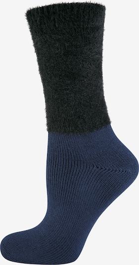 ELBEO Chaussettes ' 3-Pack Cozy Winter ' en bleu / noir, Vue avec produit