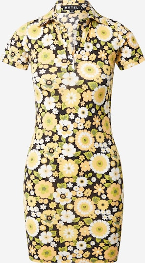 Motel Dress 'Jeeves' in Yellow / Olive / Black / White, Item view