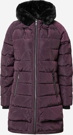 Cartoon Between-Seasons Coat in Dark purple / Black, Item view