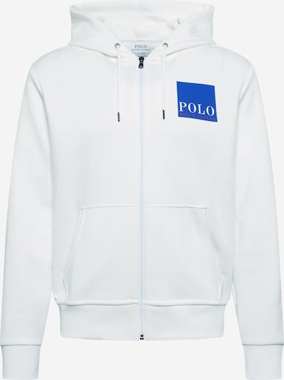 POLO RALPH LAUREN Sweat jacket in blue / white: Frontal view