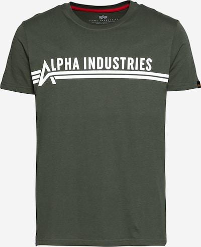 ALPHA INDUSTRIES Bluser & t-shirts i oliven / hvid, Produktvisning
