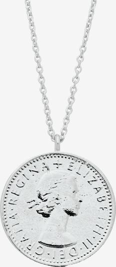 Estella Bartlett Ketting 'Lucky 6 Pence' in de kleur Zilver, Productweergave