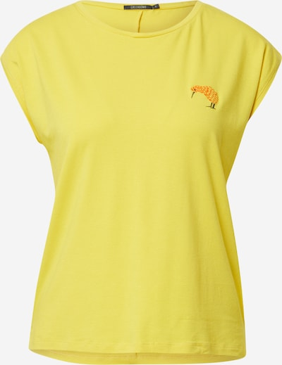 GREENBOMB Shirt 'Kiwi' in gelb / oliv / orange, Produktansicht