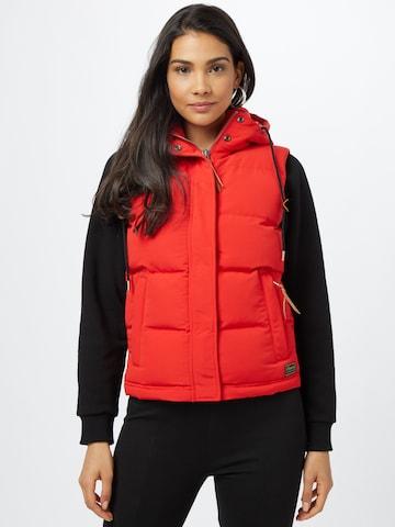 Superdry Vest 'EVEREST' in Red