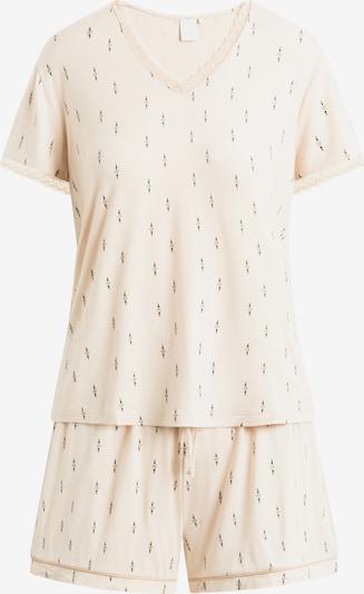 CCDK Copenhagen Pyjama 'Jordan' in creme / schwarz, Produktansicht