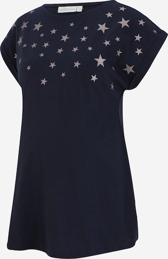 JoJo Maman Bébé T-shirt 'Star' en bleu marine / argent, Vue avec produit