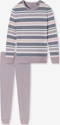 Pigiama 'Sportive Stripes' di SCHIESSER in rosa