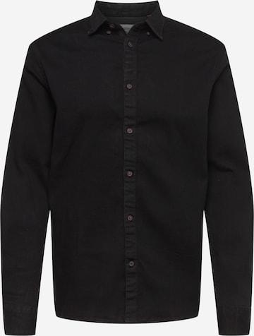 Camicia 'Johan' di Kronstadt in nero