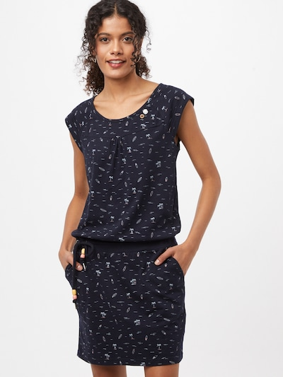 Ragwear Kleid 'PENELOPE' in navy / hellblau, Modelansicht