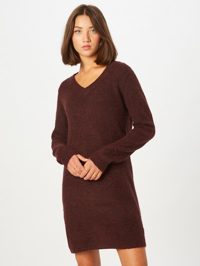 PIECES Knitted dress 'ELLEN' in Wine red, View model