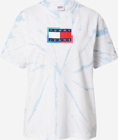 Tricou Tommy Jeans pe albastru marin / albastru deschis / roșu / alb, Vizualizare produs