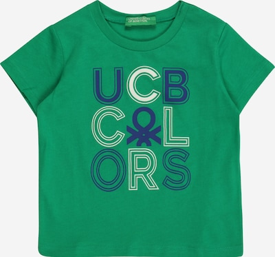 UNITED COLORS OF BENETTON T-Shirt in navy / hellgrün / weiß, Produktansicht