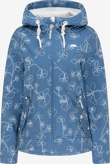 Schmuddelwedda Jacke in taubenblau / weiß, Produktansicht