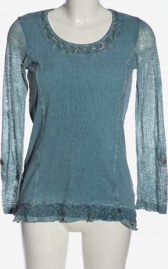 Tredy Langarm-Bluse in M in blau, Produktansicht