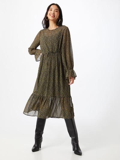 PIECES Kleid 'Misty' in gelb / schwarz, Modelansicht