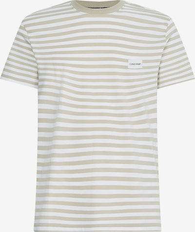 Calvin Klein Shirt in de kleur Beige / Wit, Productweergave