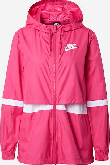 Giacca di mezza stagione Nike Sportswear di colore rosa scuro / bianco, Visualizzazione prodotti