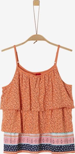 s.Oliver Top in mischfarben / orange, Produktansicht