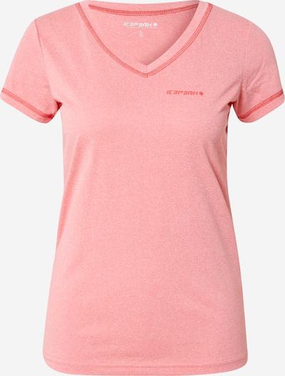 ICEPEAK Functioneel shirt 'BEASLEY' in de kleur Lichtroze / Rood, Productweergave