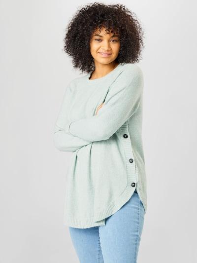 Zizzi Pullover 'MDERBY' in pastellgrün, Modelansicht