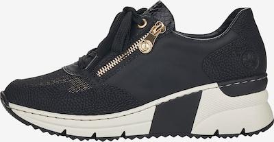 RIEKER Låg sneaker i guld / svart / vit, Produktvy