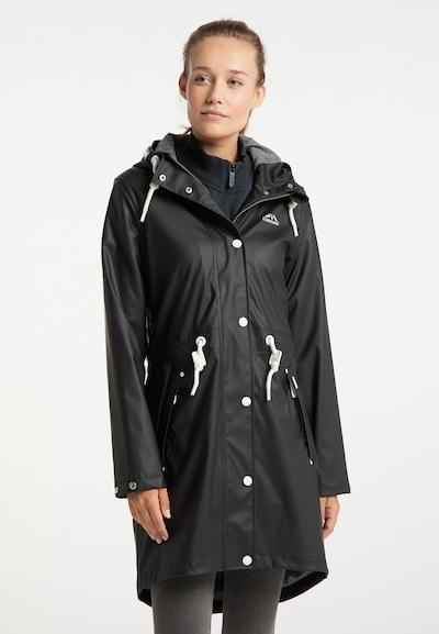 ICEBOUND Regenmantel in schwarz / weiß, Modelansicht