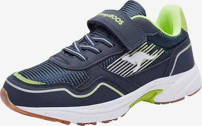 KangaROOS Sneaker in dunkelblau / grün / weiß, Produktansicht