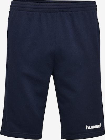 Hummel Sportbroek in de kleur Blauw / Wit, Productweergave
