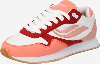 GENESIS Baskets basses 'G-Iduna' en rouge / rouge pastel / blanc naturel, Vue avec produit
