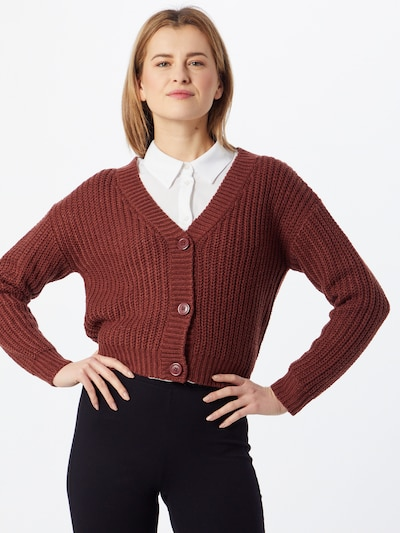 ABOUT YOU Cardigan  'Lotte' in rot: Frontalansicht