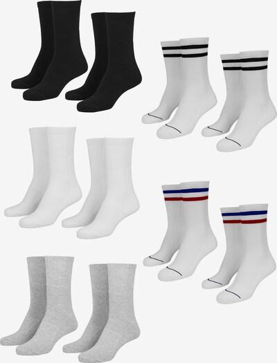 Urban Classics Sokken in de kleur Blauw / Lichtgrijs / Rood / Zwart / Wit, Productweergave