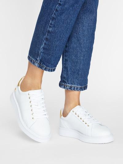 Lauren Ralph Lauren Sneakers 'Angeline' in Gold / White: Frontal view