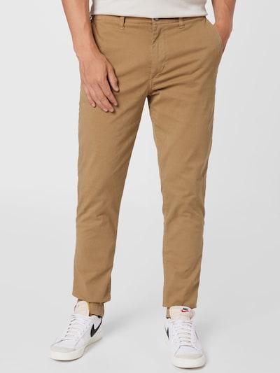 Pantaloni eleganți American Eagle pe maro deschis: Privire frontală