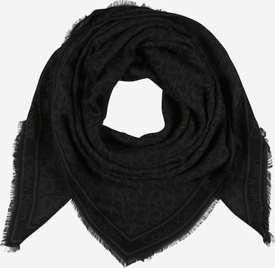 Calvin Klein Écharpe en gris foncé / noir, Vue avec produit