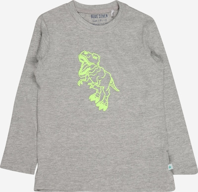 BLUE SEVEN Shirt in graumeliert / neongrün, Produktansicht