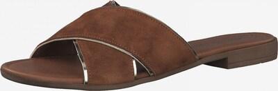 MARCO TOZZI Pantolette in braun / silber, Produktansicht