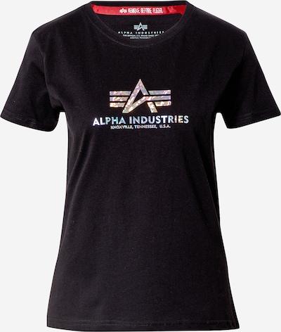 ALPHA INDUSTRIES Tričko - černá / bílá, Produkt