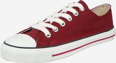 Ethletic Baskets basses en rouge cerise / blanc, Vue avec produit