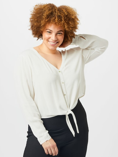 ABOUT YOU Curvy Bluse'Dylane' in weiß, Modelansicht