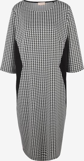 TRIANGLE Jacquardkleid mit Pepita-Muster in graphit / schwarz, Produktansicht