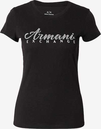 Tricou ARMANI EXCHANGE pe negru / alb, Vizualizare produs