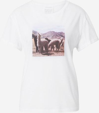ARMEDANGELS T-Shirt 'NAALIN ALPACAS' in mischfarben / weiß, Produktansicht