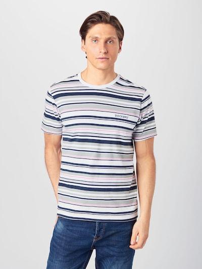 Dockers Majica u sivkasto plava / noćno plava / roza / bijela: Prednji pogled