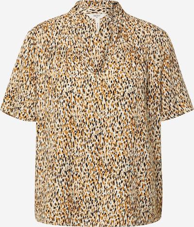 OBJECT Bluse 'AMANDA' in beige / senf / goldgelb / schwarz / weiß, Produktansicht