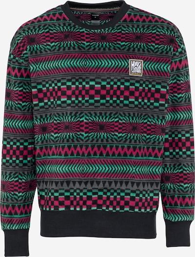 QUIKSILVER Športen pulover 'SOUL POWER' | zelena / roza / črna barva, Prikaz izdelka