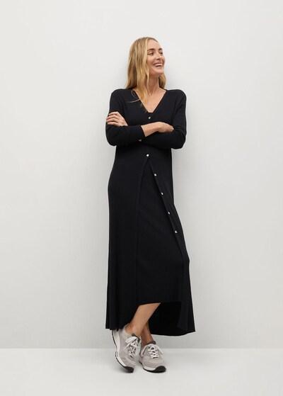 MANGO Strickjacke 'Cane-A' in schwarz, Modelansicht