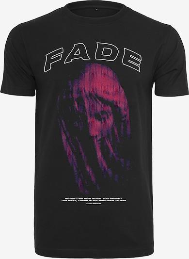Mister Tee T-Shirt en fuchsia / noir: Vue de face