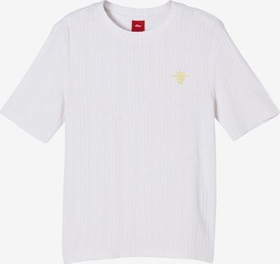 s.Oliver Shirt in de kleur Geel / Wit, Productweergave